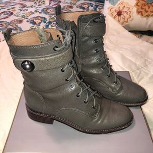Louise et Cie Shoes - Louise et Cie gray lace up combat boot. Sz 8.5